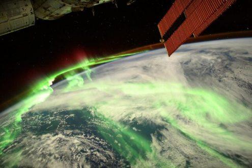 شکوه شفق قطبی از منظر ایستگاه فضایی بینالمللی