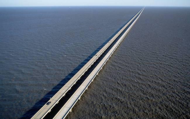 طولانی ترین پل جهان Pontchartrain Causeway