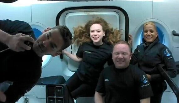 مسافران فضایی اسپیس ایکس در راه بازگشت به زمین