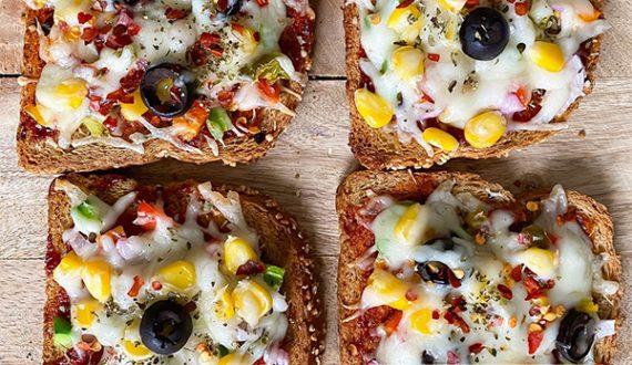 پیتزا فوری با نان تست