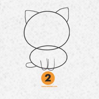آموزش نقاشی گربه فانتزی برای کودکان