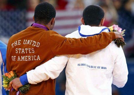 دیدار تیم های کشتی ایران و آمریکا در دالاس