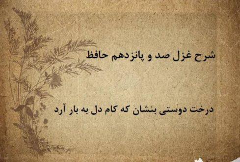 شرح غزل 115 حافظ / درخت دوستی بنشان که کام دل به بار آرد