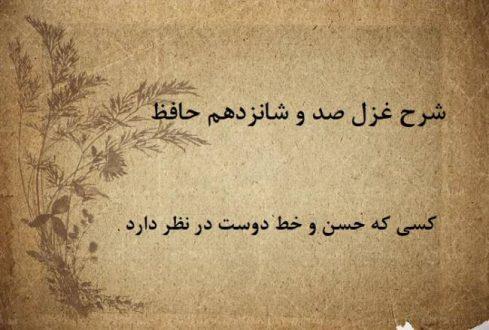 شرح غزل 116 حافظ / کسی که حسن و خط دوست در نظر دارد