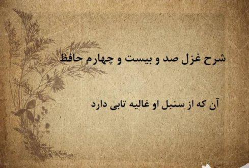شرح غزل 124 حافظ / آن که از سنبل او غالیه تابی دارد